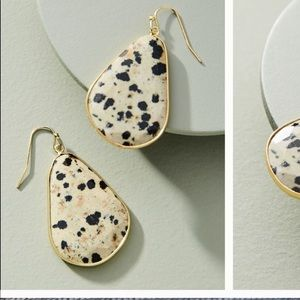 Anthro spotted Luna drop earrings NWT